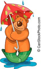 parapluie, ours