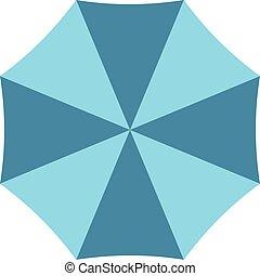 parapluie, ouvert, classique, isolé, illustration, élégant, vecteur, arrière-plan., blanc