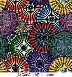 parapluie, pattern., japonaise, illustration, seamless, clair, vecteur