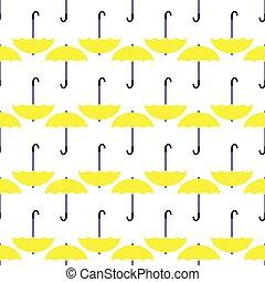 parapluie, pattern., seamless, jaune