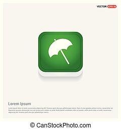 parapluie plage, icône