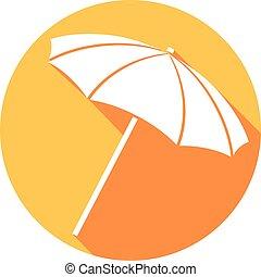 parapluie plage, illustration