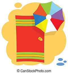 parapluie, plage