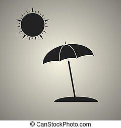 parapluie plage, soleil