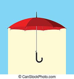 parapluie, pluie, sous