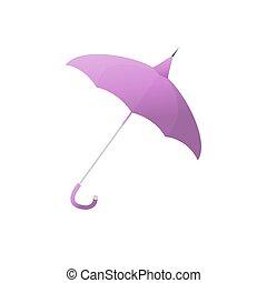 parapluie, pourpre, isolé, illustration, protection, pluie