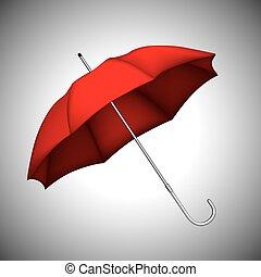 parapluie, rouges