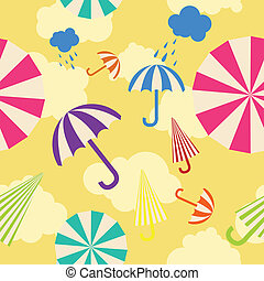 parapluie, seamless, fond