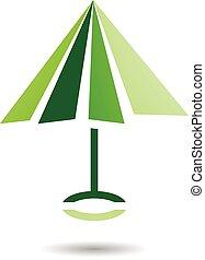 parapluie, symbole, formé, icône, résumé