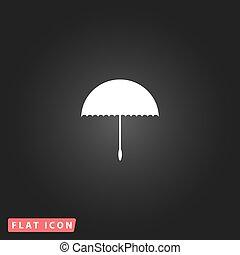 parapluie, vecteur, -, icône