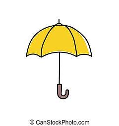 parapluie, vecteur, icon.
