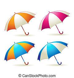 parapluies, coloré