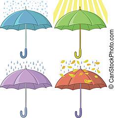 parapluies, ensemble