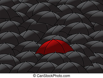 parapluies, noir, collection
