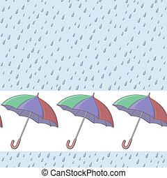parapluies, seamless, fond, pluie