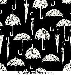 parapluies, silhouettes