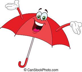 paraply, cartoon