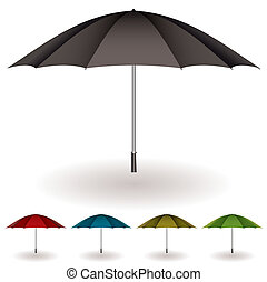 paraply, färgrik, kollektion