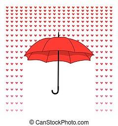 paraply, stemningsfuld, card, rai
