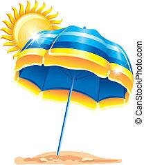 paraply, strand