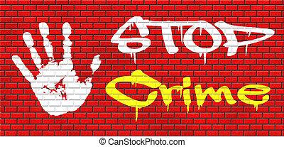 parar la muestra, crimen