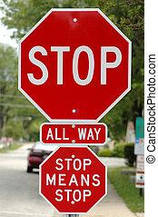 parar la muestra, dice, adicional, medios