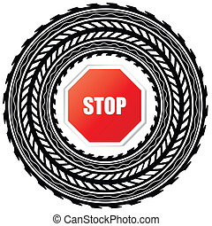 parar la muestra, pista, neumático