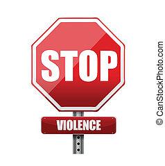 parar la violencia, diseño, ilustración