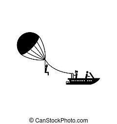 Parasailing extreme sport icon vector illustration graphic...