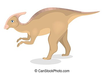 Parasaurolophus dinosaur isolated.