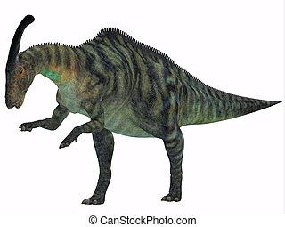 Parasaurolophus Dinosaur on White