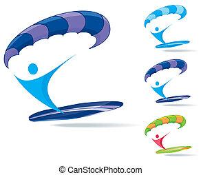 paraserfing icon set