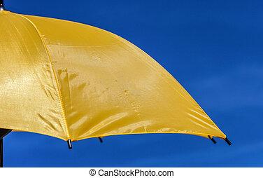 parasol, amarela