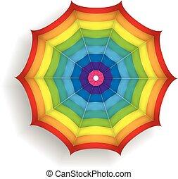 parasol, coloré, illustration, clair