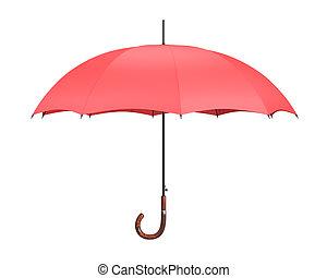 parasol, czerwony