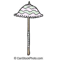 parasol, dessin animé