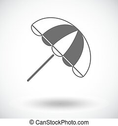 Parasol. Single flat icon on white background. Vector...