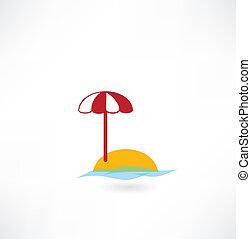 parasol, icône