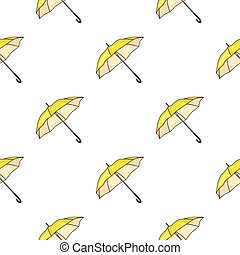Parasol icon in cartoon style isolated on white background. Golf club symbol stock vector illustration.