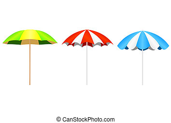 Parasol - Illustration of the parasol isolated over white...
