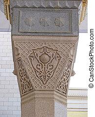 parasol, kolumna, masjid, nabawi