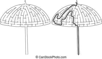 parasol, labyrinthe