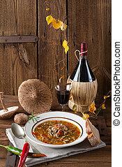 parasol mushroom soup