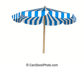 parasol on white background. Isolated 3D image