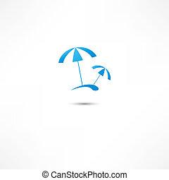parasol, plage