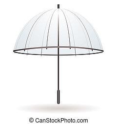 parasol, przeźroczysty