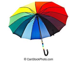 parasol, wielobarwny