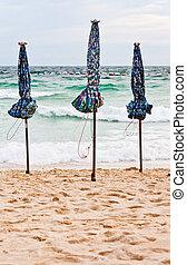 parasoll, strand