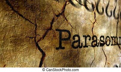 Parasomnia disease grunge concept