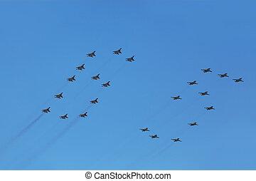 parata, mosca, 9:, piani, maggio, -, do, onore, mig, combattente